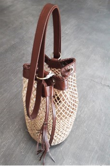 Bag Rattan With Leather