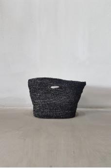 Bag Rafia Duduk Black