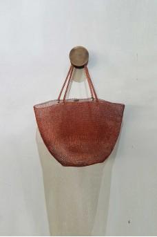 Metalic Bag Short Handle Copper