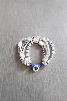 Bracelet Silver 4 Lines B