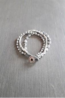 Bracelet Silver Triple Lines B