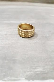 Gear Ring 2 Line in Gold Plated