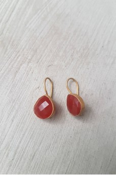 Gold Plated Stone Earrings 1