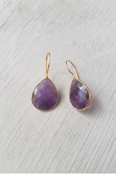 Gold Plated Stone Earrings 2