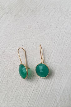 Gold Plated Stone Earrings 3