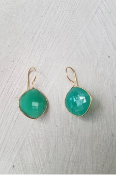 Gold Plated Stone Earrings 4