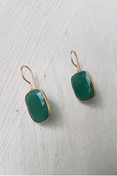 Gold Plated Stone Earrings 8