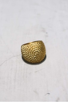 Spiral Ring With Gold Plated