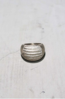Half Spiral Ring Silver No Polish