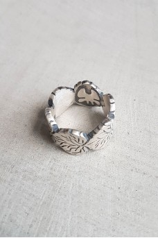 Silver Leave Ring