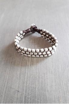 Bracelet Silver Triple Lines A