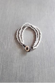 Bracelet Silver Triple Lines C