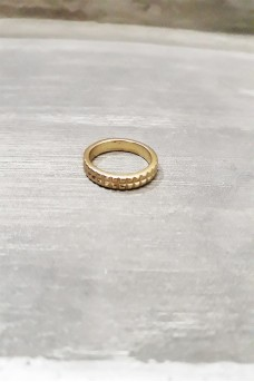 Gear Ring 1 Line in Gold Plated