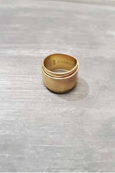 Silver Ring Double Side in Gold Plated
