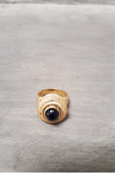 Silver Ring Gold Plated 6
