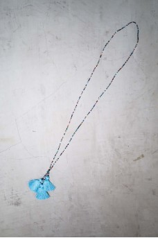 Necklace Beads 3 Tassel Long & Short