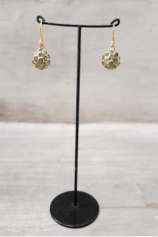 Silver Earring in Gold Plated #8