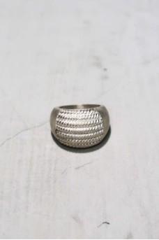 Half Spiral Ring Silver No Polish