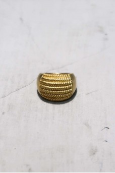 Half Spiral Ring With Gold Plated
