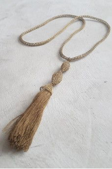 Necklaces Metalic Tussel Gold