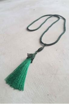 Necklace Metallic Tassel